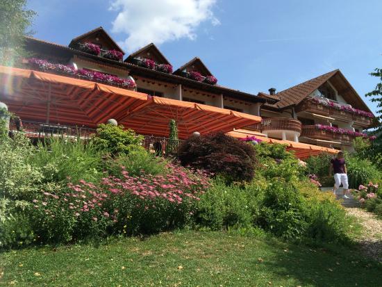 Heselbacher Hof : Vu sur la terrasse du restaurant