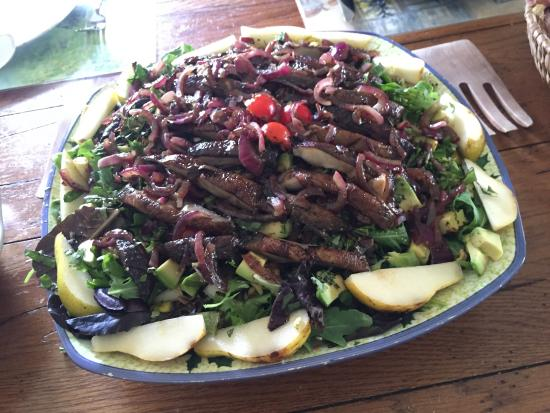 Sewall House Yoga Retreat: One of the magnificent meals offered