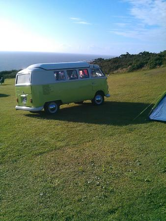 North Morte Farm Caravan & Camping Park : Camping field with a view
