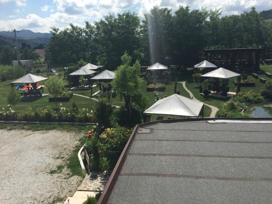 Darmanesti, Romania: The hotel garden