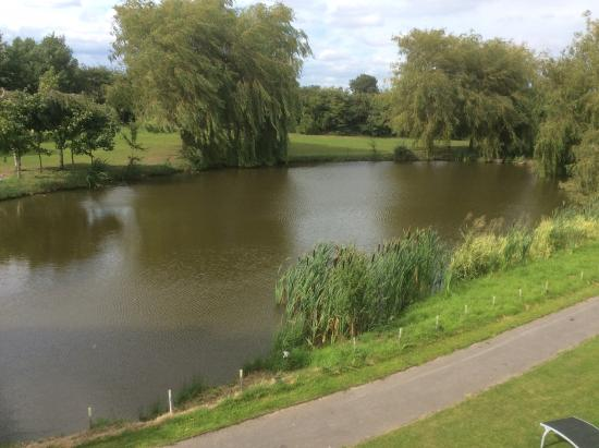 Packington, UK: View of the lake at Champneys Springs, absolutely stunning!!