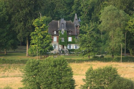 Ermitage de la Fontaine des Roches : Vue aérienne