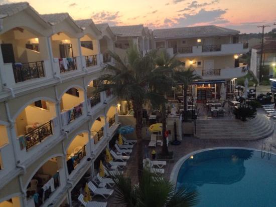 My zante 2015 picture of atlantis hotel laganas for The balcony hotel zante