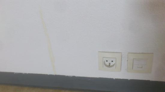 Couett'Hotel : des tâches sur le mur