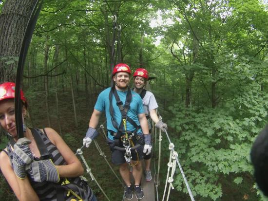 Tree Frog Canopy Tours Zipline GoPro picture on one of the wooden bridges on the  sc 1 st  TripAdvisor & The whole family had fun! - Picture of Tree Frog Canopy Tours ...