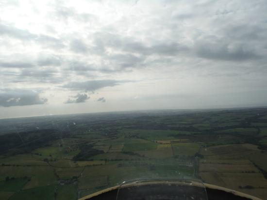 Bowland Forest Gliding Club: view from the cockpit whilst flying