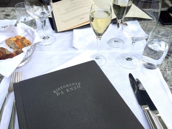Ristorante da Enzo: Il menu e il benvenuto dello chef