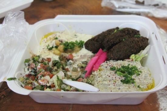 Cafe Falafel: My dinner