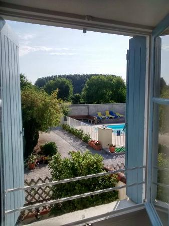 Domaine Les Granges : View from our bedroom window