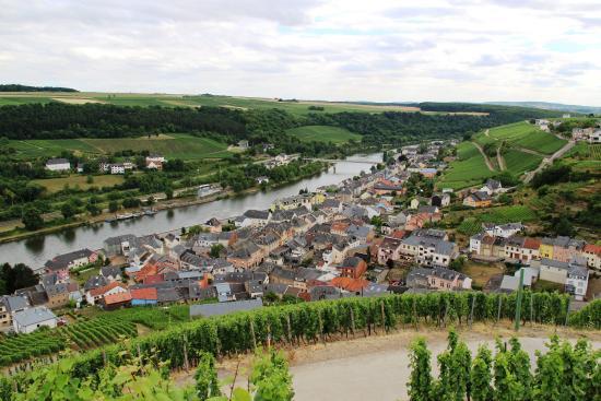 Overlooking the town of Wormeldange, Luxembourg