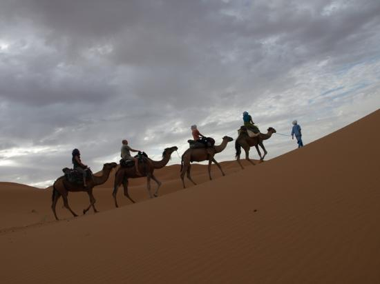 Kasbah Sable D'or: Por las dunas.