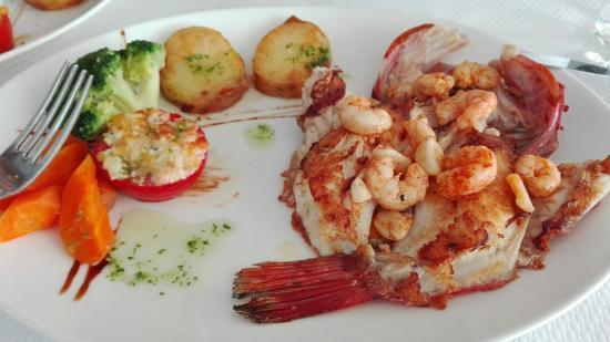 La Marina Restaurant: Cap Roig con gambas