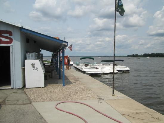 Winneconne, WI: Dock in front of the bar