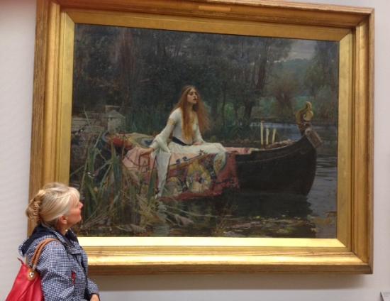 Tate Britain: Lady of Shalott by Waterhouse - magic !
