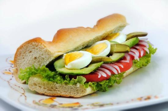 Cafe del Cielo : Sánduche vegetariano
