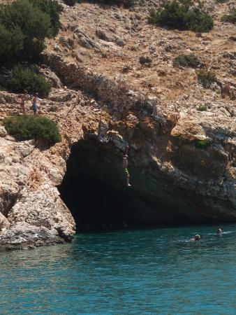Naxos, Grekland: jumbing from eina cave