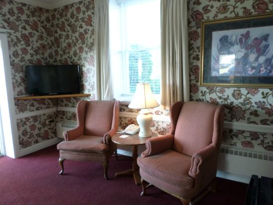 Stafford's Perry Hotel: main living area of two room suite