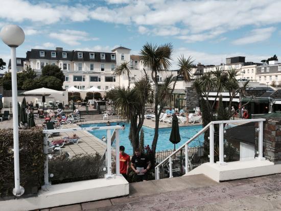 Outdoor Pool Area Picture Of Tlh Victoria Hotel Torquay Tripadvisor