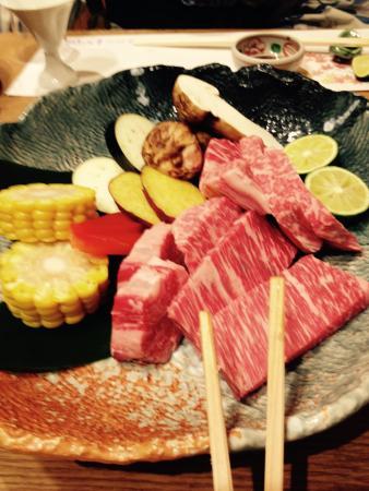 Hanaougi Bettei Iiyama: La cena