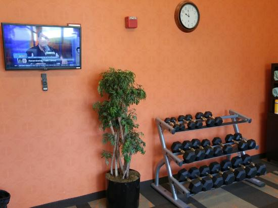 Courtyard Atlanta Norcross/Peachtree Corners: Free weights in the gym
