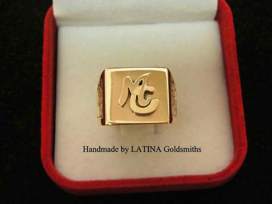 Latina Goldsmith: A big thankyou  to atila and  linda  At Latina gold  for making  these two beautiful  rings from