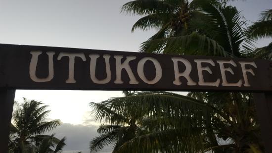 Utuko Beach: Cartel de entrada