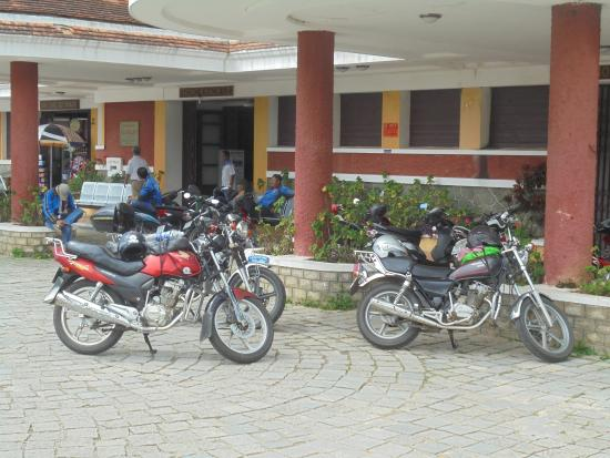 Vietnam Dalat Easyrider - Private Day Tours: Our bikes outside Dalat Railway Station