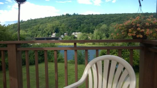 The Inn at Lackawaxen: view from the deck
