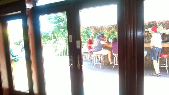 The Inn at Lackawaxen: view of raw bar from dining room