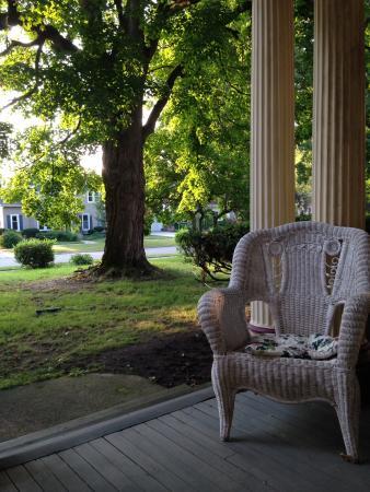 Alma, MI: On the porch