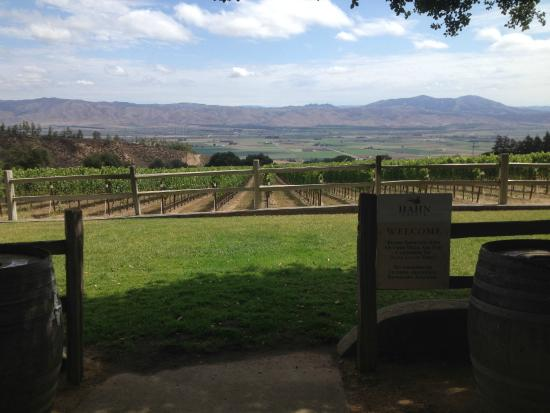 Smith & Hook Winery: Picnic Area, near tasting Room