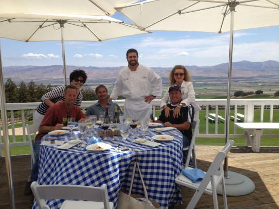 Smith & Hook Winery: Chef prepared a great lunch for us and the winemaker