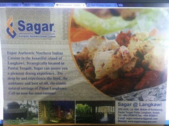 Sagar Restaurant: Sagar Langkawi