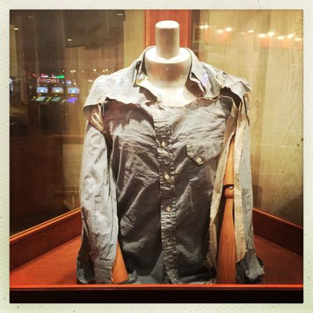 Whiskey Pete's Hotel & Casino: Clyde Barrow's shirt