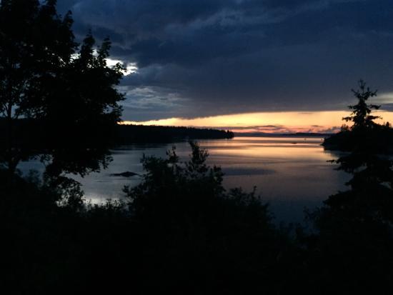 Deer Isle, ME: Sunset looking west toward Belfast from Village