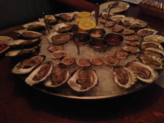 Oysters And Little Neck Clams On Half Shell Picture Of
