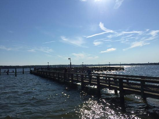 Pier picture of solomons boat ramp and fishing pier for Maryland fishing piers