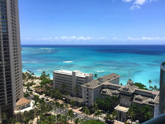 view from room picture of sheraton princess kaiulani. Black Bedroom Furniture Sets. Home Design Ideas