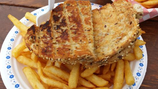 Big H's Fish and Chips : Toasted Cheese Sandwich