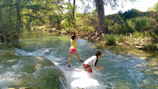 Utopia, TX: jumping off the waterfall