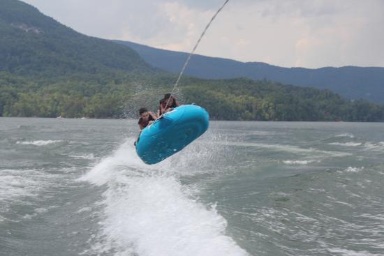 Tubing on Lake Lure.