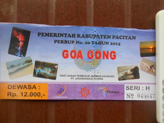 Karcis Masuk Gua Gong Picture Of Gong Cave Pacitan