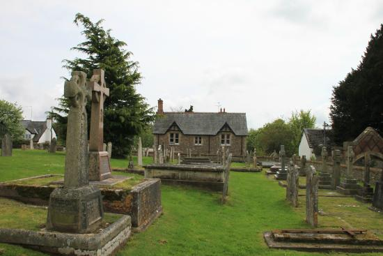 Ottery St. Mary, UK: The Burial Ground and Parish House