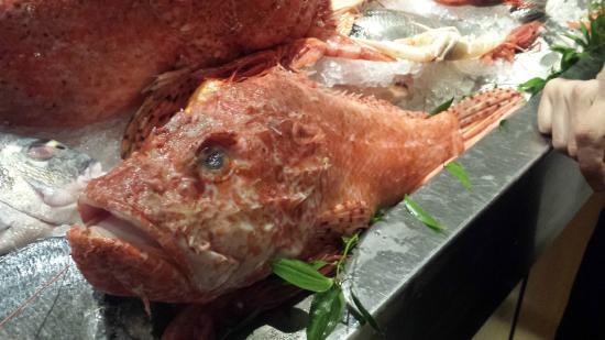 I Sapori del Mare: Onze gekozen vis, voordat hij klaargemaakt was.