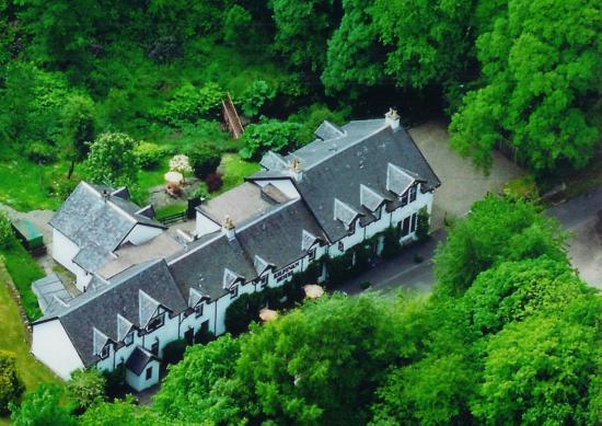 Kilfinan Hotel: Aerial View of Hotel