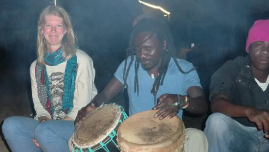 Malawi: Drumming time around campfire