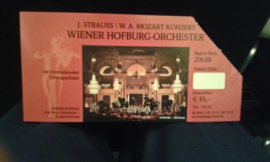 Strauss Concert Hofburg Palace: Ticket Stub