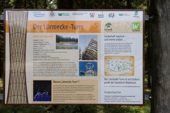 Warstein, Germany: De beschrijving van de Lörmecke-Turm