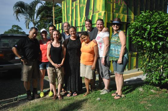 Big Bamboo Uvita: Our group with Lupe, Danny and Miner.....wonderful people, all!