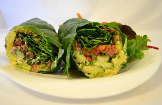 Wayne, PA: Avocado and Cheese Collard Wrap